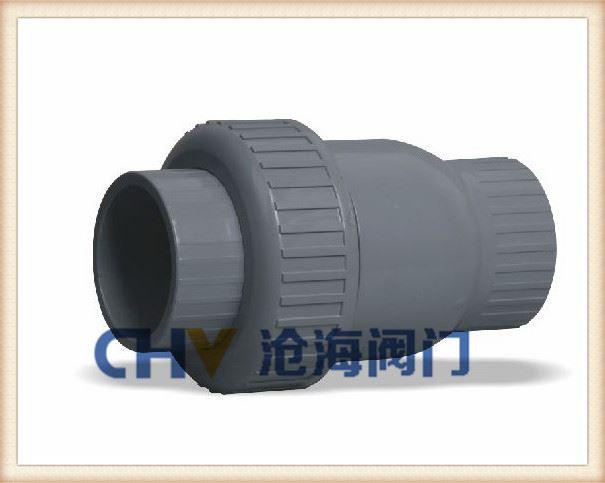 UPVC塑料单由令止回阀-H61F塑料止回阀