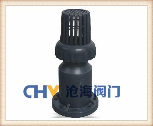 UPVC塑料底阀-H41F-10U塑料防腐底阀
