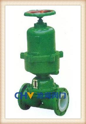 G641F46气动衬氟隔膜阀