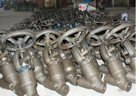 J65Y高压锻钢焊接自密封Y型截止阀